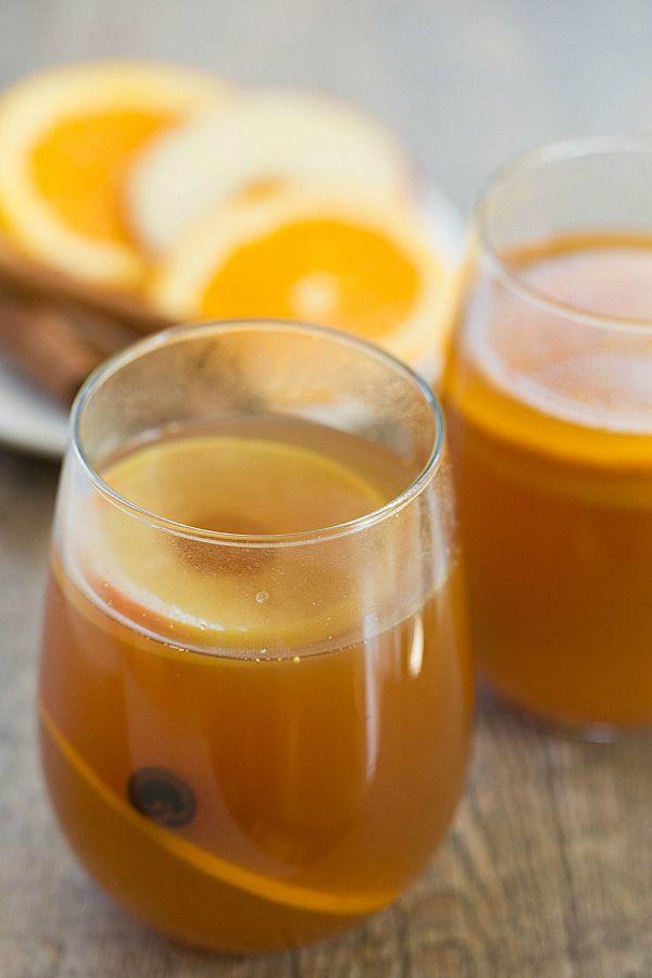 Hot Apple Cider Rum Punch by @Michelle Flynn (Brown Eyed Baker) :: www.browneyedbaker.com