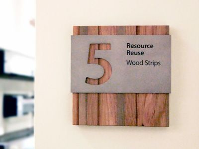 Recycled Materials - Wood Signage http://www.casaustin.com/projects/HomeAway/images/13_Homeaway_Interior_Sign_Wall_Sign_Hanging_Sign_LEED_Recycled_Materials_Acrylic_Digital_P...