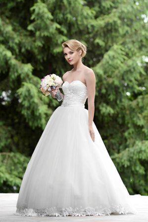 Embroidered princess wedding dress
