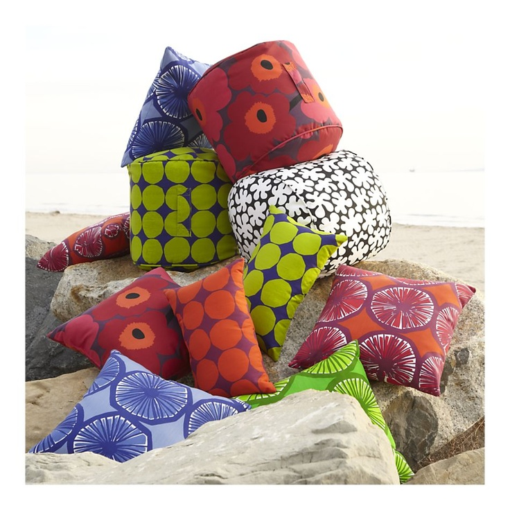 Marimekko outdoor bean bags! Want these!