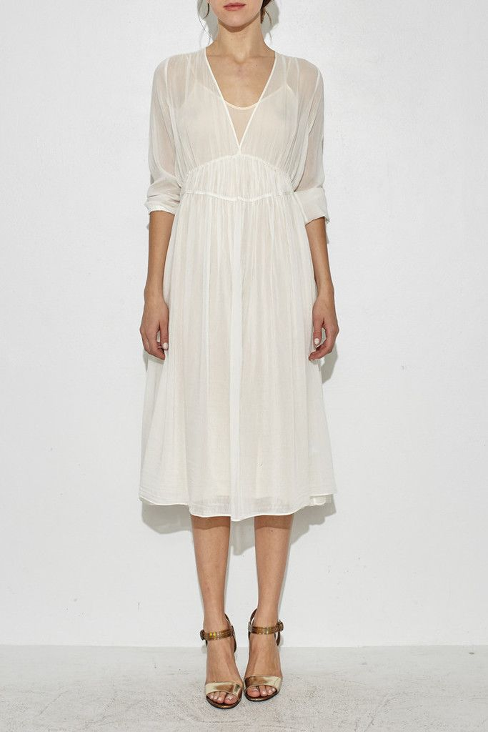 White Voile Dress