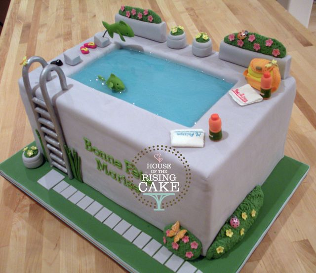 swimming pool cakes swimming pools cake cookies fun cakes creative cakes pottery barn awesome cakes cake designs cake ideas. beautiful ideas. Home Design Ideas