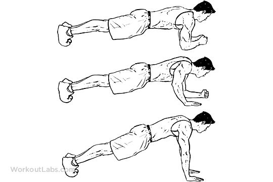 Plank to Push-Up / Pushups / Walking Plank Up-Downs
