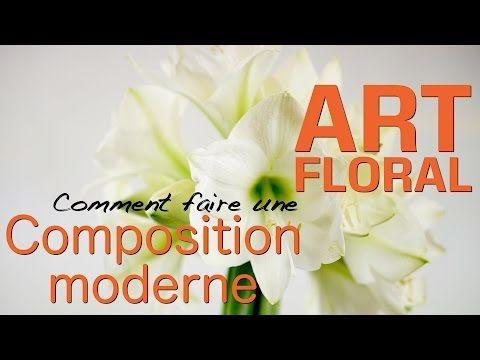 COMPOSITION FLORALE MODERNE-GROSSISTE FLEURS COUPÉES PARTICULIERS - YouTube
