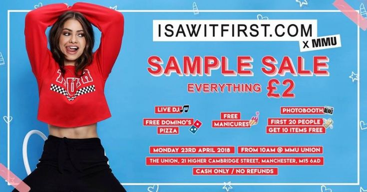 I SAW IT FIRST Sample Sale -- Manchester -- 23/04