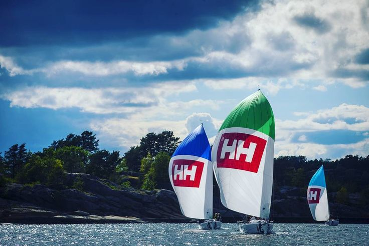 HH Photographer @ trondteigen takes some cool shots of HH sails in Sognefjord.