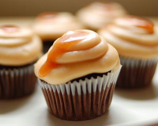 Karamellás cupcake