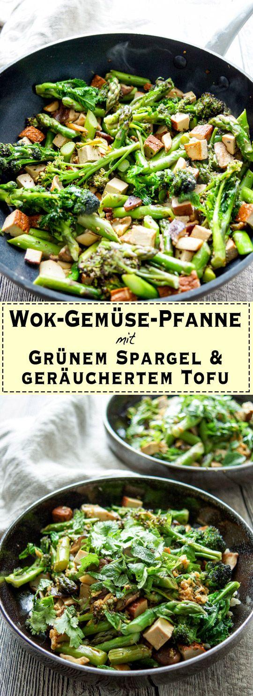 Was ist eine Wok-Gemüse-Pfanne? Auf Englisch ist das ganz einfach: ein Stir-Fry. Damit bin ich aufgewachsen. Ok, vielleicht nicht mit geräuchertem Tofu, Frühlingsgemüse und so leckeren Zutaten wie …