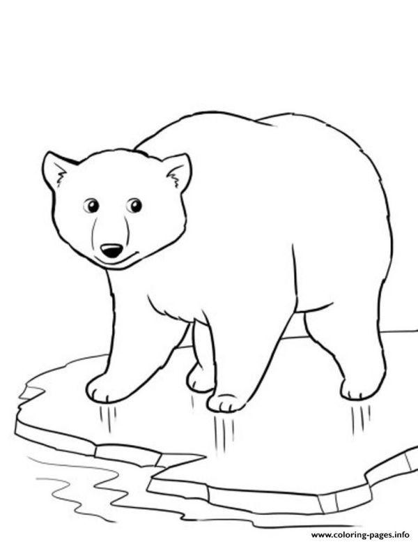 Winter Polar Bear Coloring Pages Printable Nel 2020 Orso Polare Disegni Da Colorare Animali