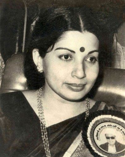 From the Delhi Press archives: a young J Jayalalithaa wearing an MGR campaign pin.