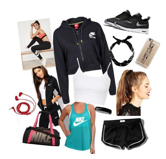 """NIKE running inspiration kit"" by anxstazja on Polyvore featuring NIKE, Abercrombie & Fitch, ASOS, Topshop, FOSSIL, Casetify, women's clothing, women, female and woman"