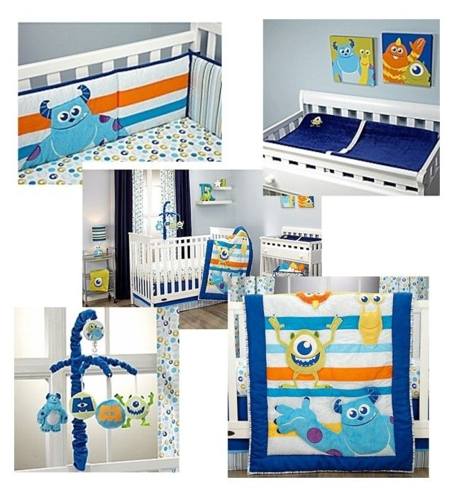 """Monsters Inc Nursery"" by alliechassie on Polyvore featuring interior, interiors, interior design, home, home decor, interior decorating and Disney"