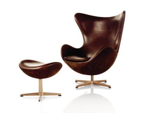 Arne Jacobsen - Egg Chair: Eggs, Fritz Hansen, Chairs, Eggchair, Furniture, Fritzhansen, Arne Jacobsen, Design, Egg Chair