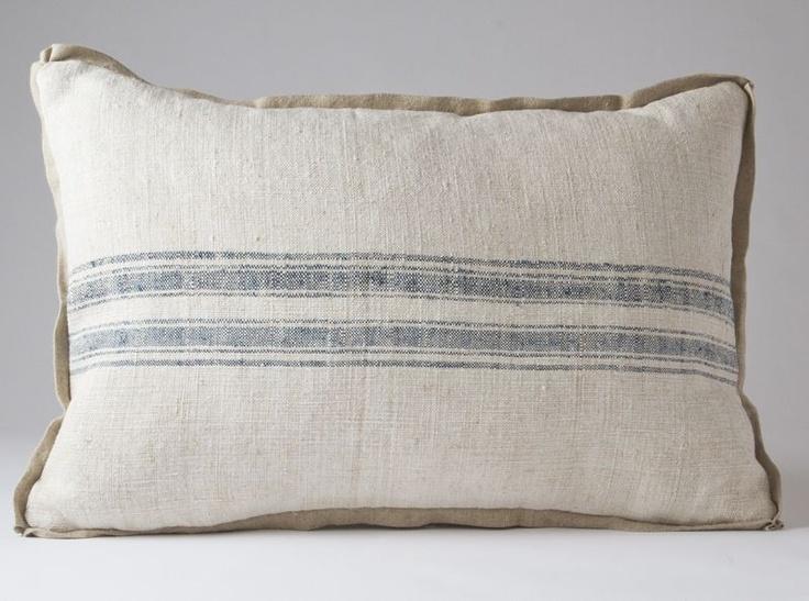 Vendorf grain sack pillow - French Vintage HomeGrain Sack, Vendorf Grains, Pillows 14X20, Sack Pillows, Grains Sack, French Vintage, Vintage Homes, French Grains, Pillows Details