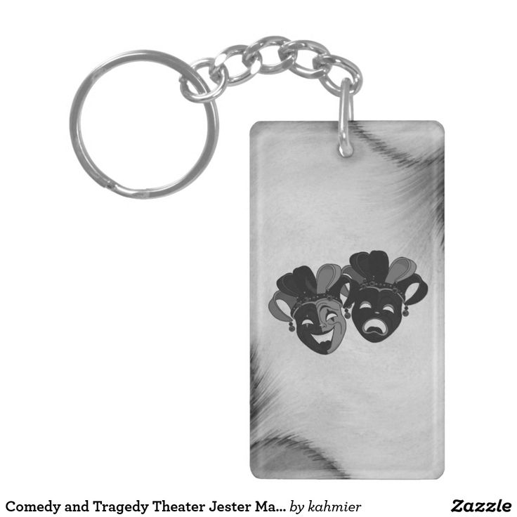 Comedy and Tragedy Theater Jester Masks Keychain