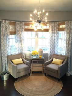 bay window idea for living room window rods bay window curtains