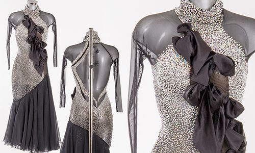 Strictly Come Dancing 2014 black and silver dress