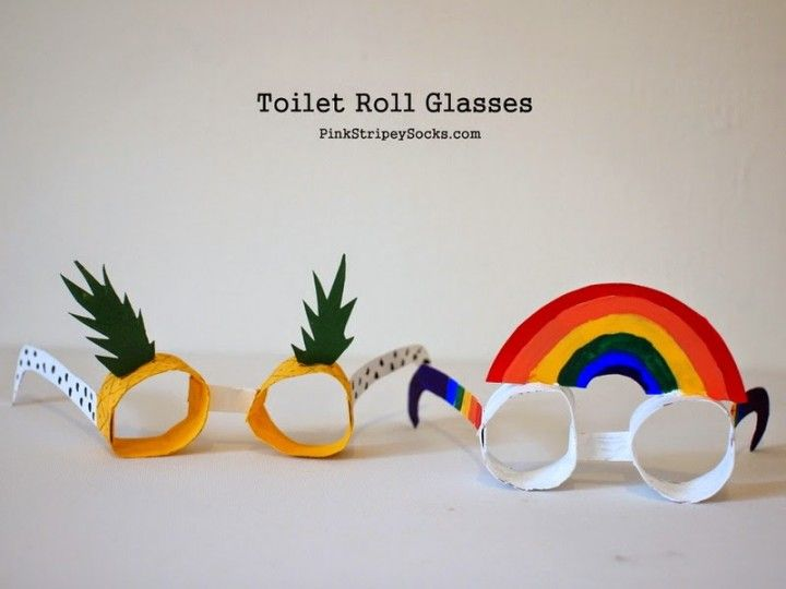 Cómo hacer gafas divertidas con rollos de papel
