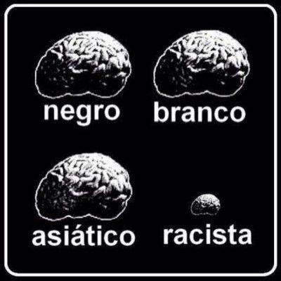 """Essa imagem resume como vejo um racista. A pior forma é quando, mesmo dotada de inteligência, a pessoa é racista. """"Uma pessoa burra é aquela que causa algum dano a outra pessoa ou a um grupo de pessoas sem obter nenhuma vantagem para si mesmo – ou até mesmo se prejudicando."""" Carlo Cipolla. Racismo é burrice!"""