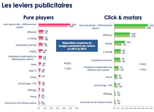 Leviers publicitaires Pure Players & Retaillers 2014