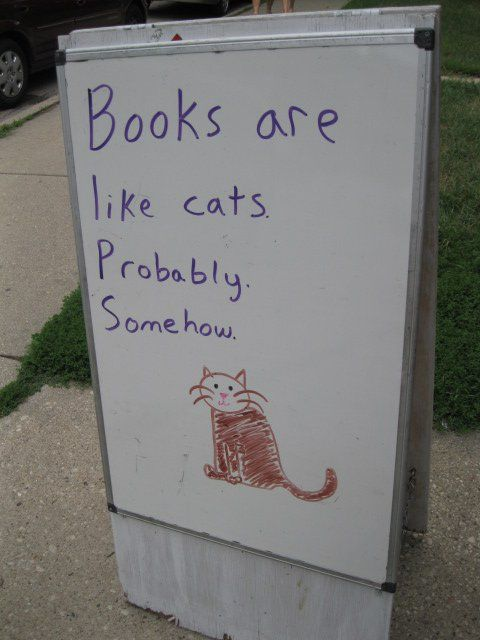 Absolutely Madness: Cats, Books Covers, Reading, Cat Quotes, Probabl, Funny Signs, Covers Books, Books Worth, Pictures Books