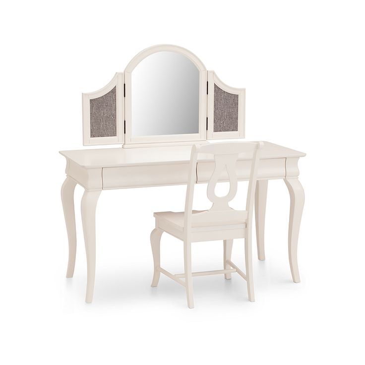 The Dominique kids vanity mirror is an updated interpretation of Louis Phillippe styling in a more transitional flavor.