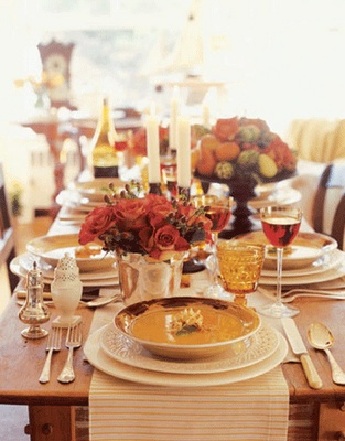 A thanksgiving table like this....perfect!