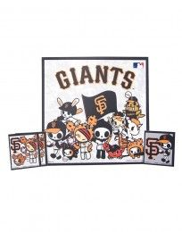 tokidoki x MLB Giants Vinyl Cling 4-Pack