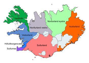 Régions de l'Islande