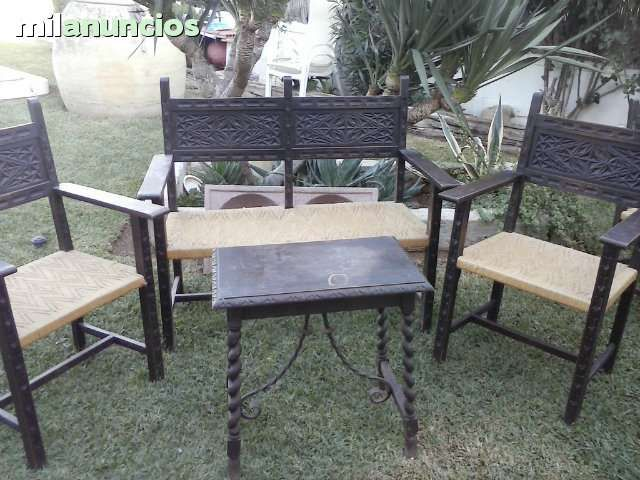 Hola vendo conjunto de madera antiguos compuesto por sillon de dos plaza dos sillones - Sillones una plaza ...