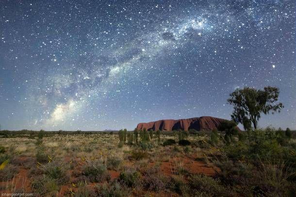 A pebble among the stars Uluru Ayers Rock Northern Territory Australia  #landscape #pebble #stars #uluru #ayers #rock #northern #territory #australia #photography