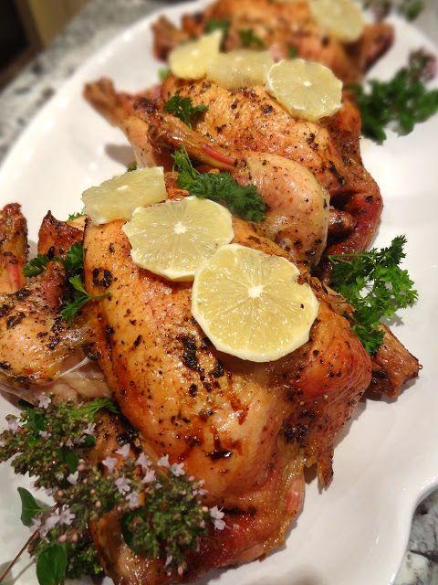 Scrumpdillyicious: BBQ Roasted Lemon Chicken with Garlic & Herbs