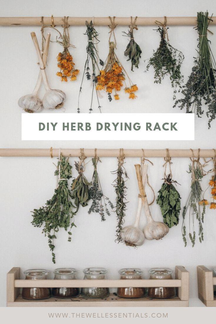 Simple Diy Herb Drying Rack For Your Garden Herbs In 2020 Herb Drying Racks Drying Herbs Drying Rack Diy