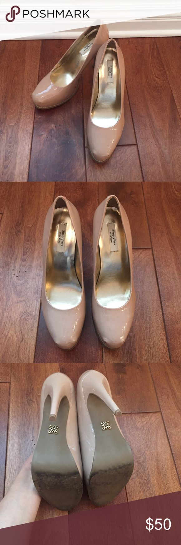 Simply Vera Vera Wang Nude Platform Heels Simply Vera, Vera Wang Nude Platform Heels, size 8.  Excellent used condition. One small imperfection on the right heel, see photos. Simply Vera Vera Wang Shoes Heels