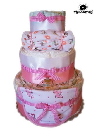 http://thavmataki.gr/eshop/diaper-cakes/diaper-cake-pink.html Η καλύτερη ιδέα που είχαμε ποτέ, συνεχίζει να είναι πολύ αγαπητή! Mixed thavmataki για τα νεογέννητα μωράκια, με πολλές πολλές πάνες από όλες τις επώνυμες μάρκες τις αγοράς για να διαλέξει η μαμά ποιά ταιριάζει καλύτερα στο δικό της μωράκι. Και φυσικά, συνοδεύεται από τα απαραίτητα αξεσουάρ, φορμάκι-σαλιάρα και πιπίλα.  Τιμή 40€ Κλικ στο e-shop για όλες τις λεπτομέρειες!