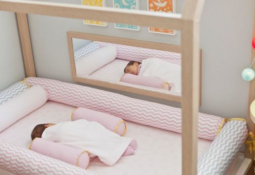 I like the idea of a baby bed that is down close to the floor. The baby could be able to get to it themselves they want to nap. However, once the are mobile, they would also be able to get our easily. So, you couldn't really leave them unattended.