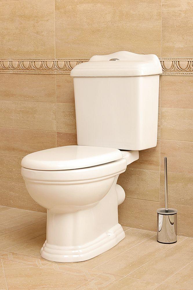 Kompakt RETRO WC + deska biała