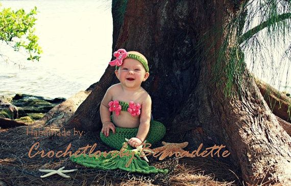 Cutest Crochet Baby Mermaid Costume Tail Prop Sets  Made to Order on Etsy, $48.90 CAD