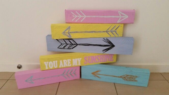 Cute timber arrow blocks  www.facebook.com/mickeyssigns