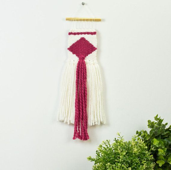 Woven Wall Hanging  Handwoven  Boho Kids Decor  by JCirianoDesigns