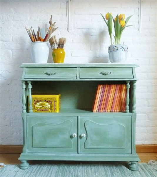 L'atelier de Papillon - Customization of an auxiliary furniture with chalk paint