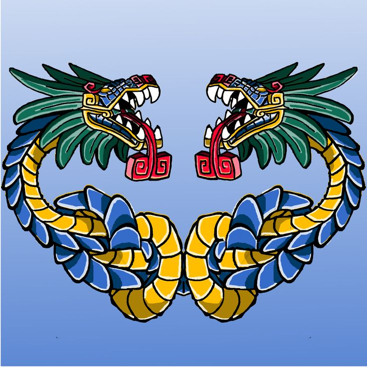 God Quetzalcoatl ( feathered serpent with two heads )