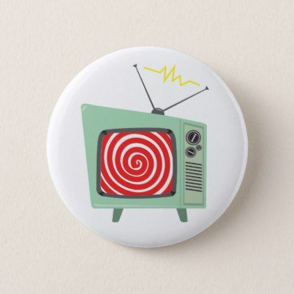 Picture Dish Logo TV Button - fun gifts funny diy customize personal