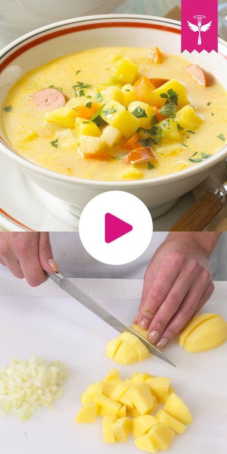 Kartoffelsuppe ist immer eine tolle Idee! Kostet wenig, ist #einfach zuzubereiten und schmeckt immer wieder gut!