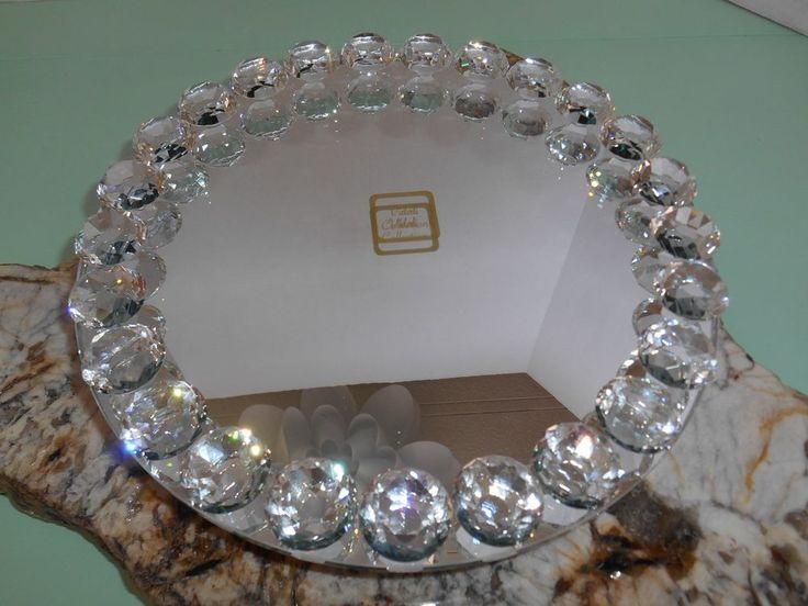 "GORGEOUS!! VIDALI COLLECTION Crystal and Mirror Lazy Susan Perfume Display 11"" #VidaliCollection"