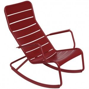 LUXEMBOURG by Fermob Rocking chair Rouge piment