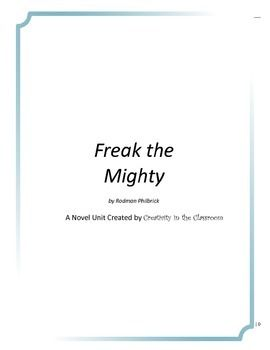 Freak the mighty essay