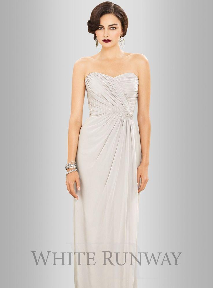 Dessy Lux Chiffon Strapless Dress 2882 - $330