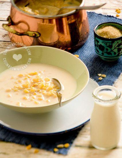 Receta Maiz Caquiao o Chaca: un postre entre sopa fría y pudin hecho a base de maíz, y aunque se toma mucho tiempo en preparar, vale la pena.