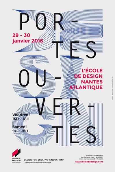 Portes ouvertes 2016 : le programme - Actualités - L'École de design Nantes Atlantique Affiche Marine Bodin (alumni 2015)